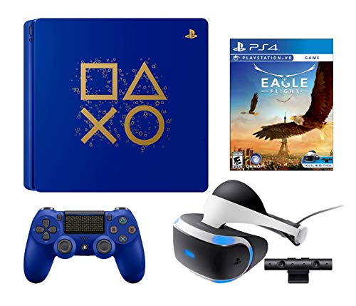 PlayStation 4 Eagle Flight PSVR Enhanced Limited Edition Bundle: PlayStation 4 Days of Play Lmited Edition 1TB Console, Eagle Flight, PlayStation VR Headset and PSVR Camera