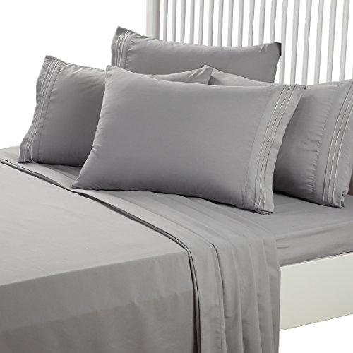 EASELAND 6 Pieces 1800 Thread Count piece Pillowcase Sets