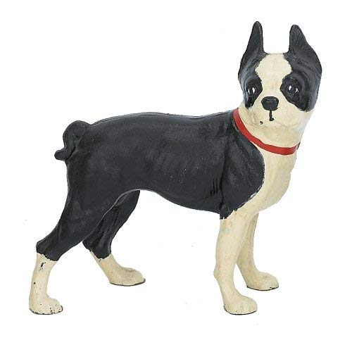 Cast Iron Standing Boston Terrier Dog Door Stop Doorstop Dogs Painted ()