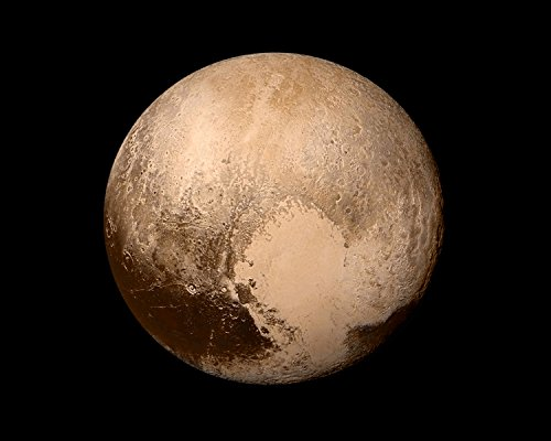 Planet Pluto | Planets and Moons Astronomy Galaxy Poster, Print, Picture or Framed Wall Art Decor - Solar System Educational Photo Collection - Holidays (8x10 Unframed Photo) ()