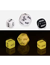 Sex Dices, Coxeer Set of 6 Couple Dice for Bachelor Party Adult Dirty Dice Toy Spicy Dice for Valentine's