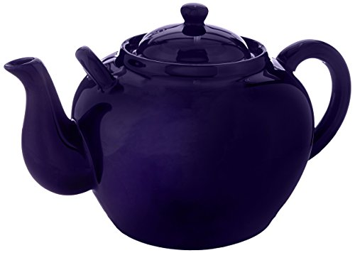 English Garden Teapot - Harold Import Co. NT-653C HIC Teapot, Cobalt, Ceramic Stoneware, 12-Cup, 75-Ounce Capacity