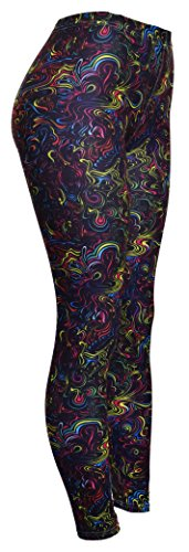 High Quality Printed Leggings (Shimmer and Swirl)