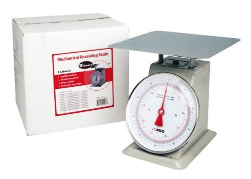 Winco SCAL-9100 100-Pound/45.45kg Scale with 9-Inch Dial by Winco