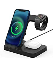 Charging Station Wireless Charger Stand Pad for Apple Watch 6/SE/5/4/3/2,Galaxy Watch 42/46mm/active,Gear S3,Airpods Pro/2, iPhone 12/12 Pro/11 Pro/XR/XS; Galaxy S20/S10/S9 (No Apple Watch Charger)