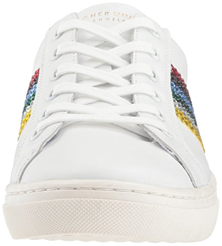 Wht Skechers Zapatillas Rockers para Blanco Rainbow White Mujer Goldie rq7wc8Etr