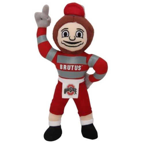 NCAA Ohio State Buckeyes Brutus Mascot Plush, One Size, Red