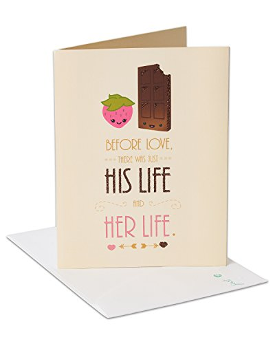 American Greetings Chocolate Strawberry Bridal Shower Congratulations Card with Glitter ()
