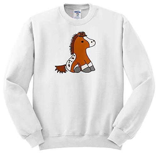 All Smiles Art Animals - Cute Funny Baby Appaloosa Pony Horse Cartoon - Sweatshirts - Youth Sweatshirt Small(6-8) (ss_288196_10)