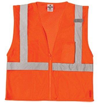 ML Kishigo 1086 Ultra-Cool Polyester Mesh 3 Pocket Vest, Extra Large, Orange