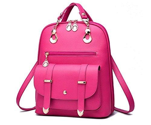 LINNBER - Bolso mochila  de Otra Piel para mujer rosa
