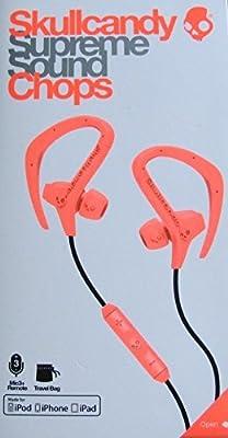 Skullcandy Chops with Mic3 Earphones/Earbuds Lifestyle Headphone - Hot Red/Black