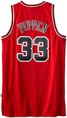 new product 90ad7 c0e0b Scottie Pippen Jersey: adidas Red Throwback Swingman #33 ...