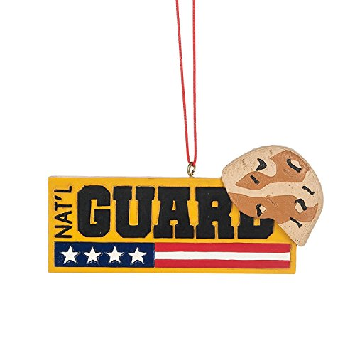 National Guard Camo Helmet Sign Resin Stone Christmas Ornament -