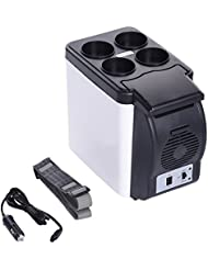 Portable 6L Mini Car Fridge Freezer Cooler Warmer Multi-Function 12V Cooling Heating Mini Fridge Camping Travel Refrigerator