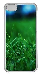 Grass Closeups PC Case Cover for iPhone 5C Transparent