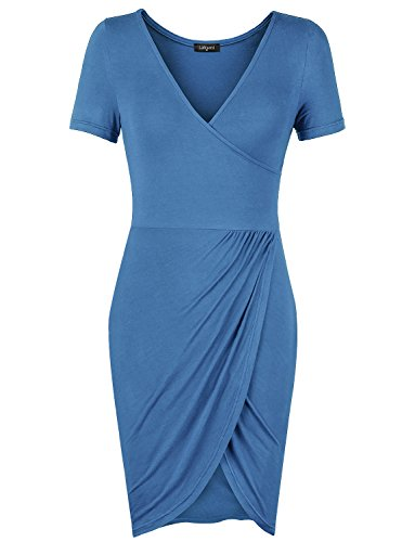 Silk Linen Dress (Womens Casual Dresses,Laksmi Women's Comfortable Solid Ruched Office Dress Vintage Swing Dresses, X-Large)