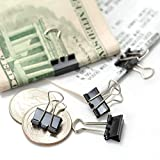 Officemate Micro Size Binder Clips, Black, 100 per