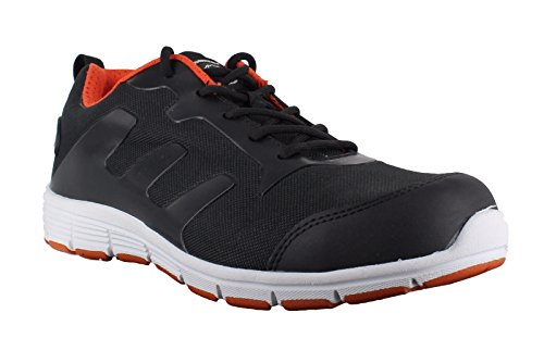 Groundwork GR95 C - zapatos de seguridad de lona hombre negro/naranja