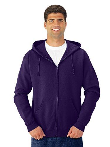Jerzees Nublend Adult Full-Zip Hooded Sweatshirt (Deep Purple) (XL)
