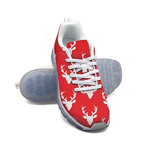 Navidad Ciervos Rojos Faaerd Zapatos Deportivos Colchón De Aire Grande De Malla Transpirable De Los Hombres Alces Zapatos Para Correr Liquidación 2018 qHSC6