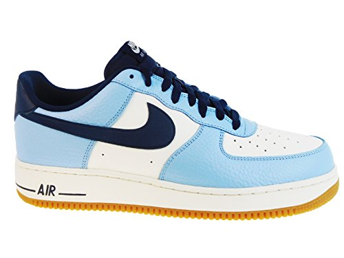 Nike Men's Air Force 1 Low Bluecap/Obsidian/Sail/Gum Light Brown Leather Casual Shoes 11 M US (Air Force 1 Low Light Blue Shoes compare prices)