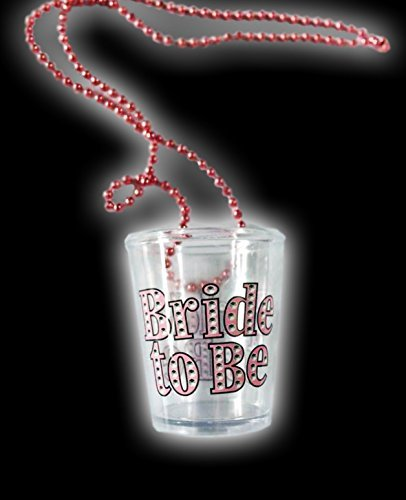 Alandra Party Bride To Be Shot Glass On Necklace Alandra Products Ltd. SHOT-BTB