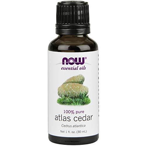 Now Essential Oils, Atlas Cedar Oil, Balancing Aromatherapy Scent, Steam Distilled, 100% Pure, Vegan, 1-Ounce
