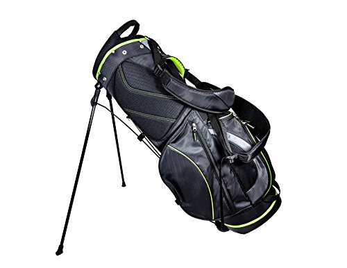 Club Champ Deluxe Stand Golf Bag, Black/Green For Sale