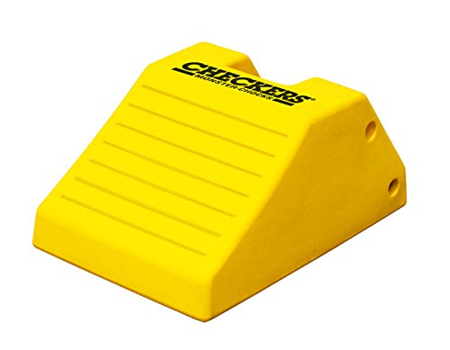 Checkers Industrial Safety Products MC3012 Light Weight Wheel Chock Yellow 21.9 x 14.9 x 10.6