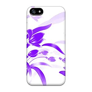 Iphone 5/5s Cases Covers Skin : Premium High Quality Purple Flowers Cases