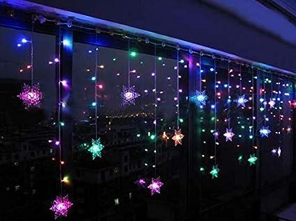 Rideau lumineux à LED avec 93 LED Guirlande lumineuse en forme de ...