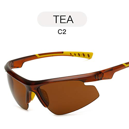TEA Gafas nbsp;Tendencia Sol al de Libre Aire Deportivas Deportivas de Moda Mjia Hombre nbsp;Sol de sunglasses Negro nbsp;Gafas Gafas Gafas wYR8fqnHI