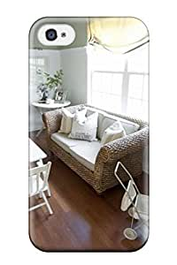 Awesome Design Shabby Chic Playroom With Tea Table And Seagrass Sofa Hard Case Cover For Iphone 4/4s