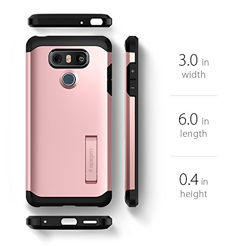 premium selection c040f a8eac Spigen Tough Armor LG G6 Case/G6 Plus Case with Reinforced Kickstand and  Heavy Duty Protection and Air Cushion Technology for LG G6 (2017)/LG G6  Plus ...