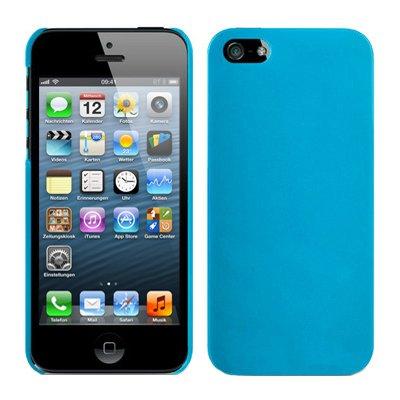RT-TRADING Apple iPhone 5 5G Hybrid Rubber Hard Case Cover Tasche Etui Gummiert in Hellblau