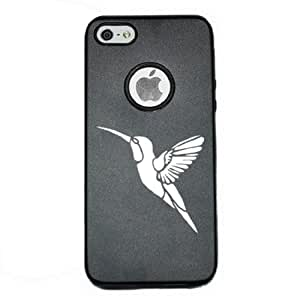 Humming Bird 1 iPhone 5 Case iPhone 5S Case - MetalTouch Black Aluminium Shell With Silicone Inner Protective Designer Case