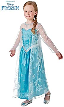 DISBACANAL Disfraz de Elsa Frozen Deluxe niña - -, 7-8 años ...