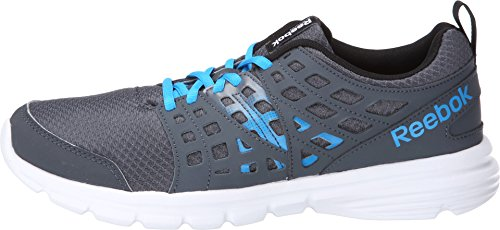 Reebok Men's Speed Rise Running Shoe, Graphite/Black/Energy Blue/White, 9 M US