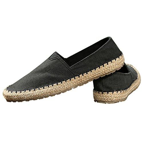 uomo LI EU39 Nero libero di tempo Nero SHI CN40 tela pescatore traspirante 5 shoes dimensioni da Colore vecchia da UK6 pigro canvas XIANG Pechino Scarpe paglia SHOP estate PPTw8qgr1