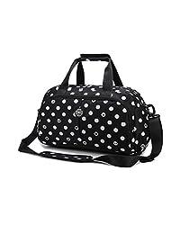MATMO Women Tote Gym Bag Polka Dot Print Girls Travel Duffle Bag Outdoor Handbag