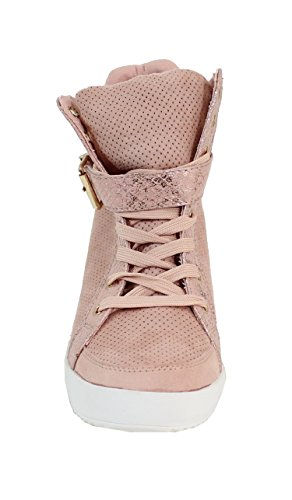 Basket Style Daim Shoes Montante By Rose Femme U57zqz