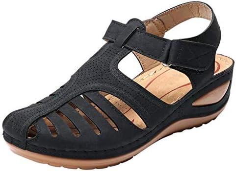 女性用靴 フラット 快適 レディース ガールズ 快適 アンクル 中空 ラウンドトゥ サンダル ソフトソールシューズ