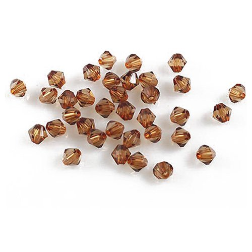 Peals Beads - TOOGOO(R)Lot 1000Pcs Mixed Colors Faceted Clear Crystal Acrylic Bicone Spacer Beads 4mm coffee (Colour Bicone)