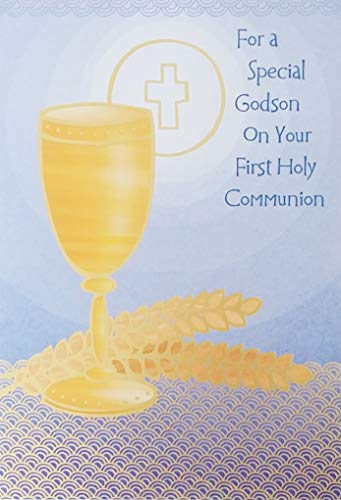 For a Special Godson on Your First Holy Communion Greeting Card ()