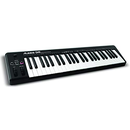 LD Alesis Q49 Desktop MIDI Keyboard Controller with 49 Velocity Sensitive Keys plus Ableton Live Lite Xpand 2 from AIR Music Technology Included