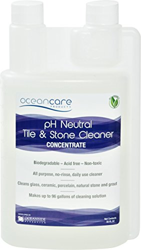 Oceancare Products pH Neutral Tile & Stone Cleaner - Quart Concentrate (Stone Care Cleaner Bathroom)
