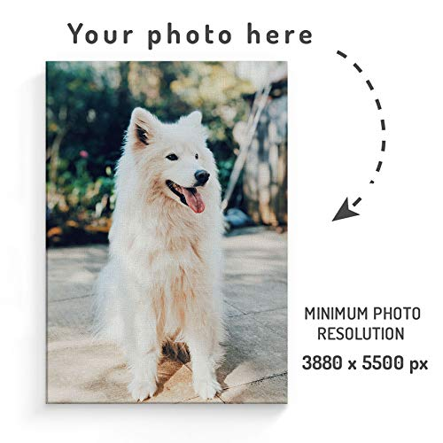 (Personalised Custom Photo Create Your Own Image Vertical Canva Design Make Your Own Print Large Canvas Print Stretched on a Frame for Stylish Decorations - Wall Art Size 30cm x)