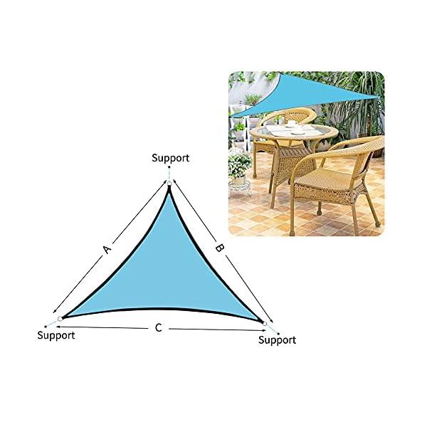 41odeaBm5vS RANJIMA Sonnensegel, Sonnensegel Dreieckig Sonnenschutz 3x3x3m, Schattensegel Wasserdicht Atmungsaktiv mit Tragtasche+3…