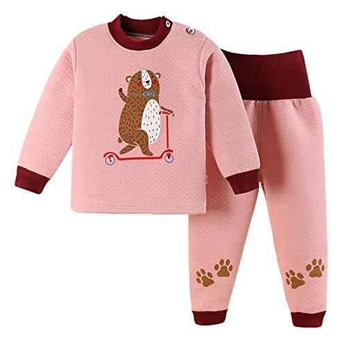 Baby Tiger Bear Pajamas PJS for Boy Girl Thick Warm Tops+Pants Sleepwear Set -